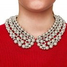 JUJIA 3 color Fashion Collar-Style Necklace choker collar bib statement simulated pearl necklace for