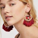 JUJIA 6 colors Bohemian Tassel Earrings New Statement earring Jewelry Factory Wholesale tassel Fring