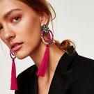 Women Brand Drop Dangle Fringed Earring Vintage Ethnic Statement Tassel Earrings Big Earrings Fashio