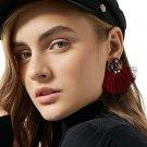 JUJIA 6 Colors Fashion Tassel  Earrings Wedding Bohemian Drop Statement fringe Earrings For Women st