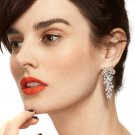 NEW Fashion Brand Earrings CZ Crystal Leaves Stud Earrings for Women Wedding Party Accessories Drop