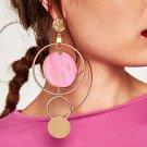 Brand Jewelry Women Fashion Big Earrings Long Round Circle Drop Dangle Earrings Trendy Jewelry Weddi