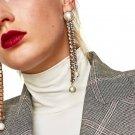 JUJIA 4 colors earrings wholesale fashion jewelry women chain simulated pearl tassel vintage stateme