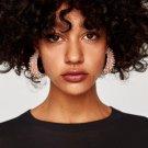 JUJIA Vintage Fashion Statement Earring Charm Crystal Beads Fringe Earrings For Women boucle d\'orei