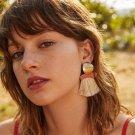 JUJIA Hot Brand Bohemian Gold Charm Fringed Drop Dangle Earring Jewelry Fashion Women Statement Tass