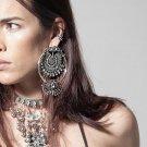 2017 New Fashion Style Bohemian Beautiful Crystal Earrings Bead Statement Big Earrings For Women Hig