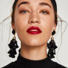 JUJIA Boho Jewelry Tassel Earrings Women Fashion Beads Fringed Statement Dangle Drop Earrings Brinco