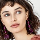 JUJIA Boho Tassel Dangle Earring Jewelry Pom Pom Drop Earrings For Women Wedding Statement Fringing