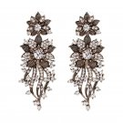 2 Colors Vintage Antique Rhinestone Earrings For Women High Quality Drop Earring Statement Brincos J