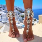 Beach Summer Vacation Accessories Bracelet Sandal Sexy Leg Chain Female Boho Crystal Anklets Stateme