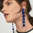 JUJIA Vintage Gold Dangle Earrings For Women Charm Flowers Long Drop Earrings Statement Jewelry