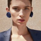 JUJIA 13 colors good quality hand made Sequins flower earring New statement fashion stud Earrings fo