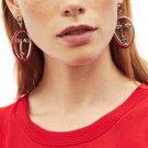 2018 JUJIA New fashion jewelry women statement face drop Earrings for women fashion earring wholesal