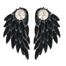 Women\'s Cool Jewelry Angel Wings Rhinestone Alloy Drop Stud Earrings A