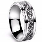 Never fading Men Ring Black silver Color Wedding Rings For Men Jewelry Stainless Steel Ring USA SIZE