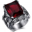 Fashion Retro Jewelry Stainless Steel 316l With Imitation Gemstone Rings For Men Natural Stone Jewel