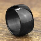 Free Shipping 316L Stainless Steel Wide Band Rings Wide 12mm Men Jewelry Black Arc Rings Fine Jewelr