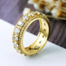 New Designer Bijoux Extreme Sparkling Round Turkish Gold-color Jewelry Fashion CZ stones AAA Quality