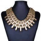Hot sale brand design Luxury Charm Chunky Chain Cheap Vintage Gold Silver Statement Choker Necklaces