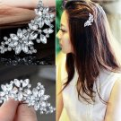 New Style Crystal Rhinestone Bridal Wedding Flower Hairgrips Hairpins Hair Clip Hair Jewelry Women H