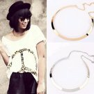 Fashion Making simple shape metal texture collar necklace (narrow version of gold) Free Shipping 201