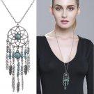 2016 New Fashion popular Bohemia Jewelry Long tassel sweater chain dream catcher jewelry Pendant nec