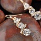 Dignity Gold  Crystal  Rhinestone Spiral Drangles Earrings Statement  Earrings jewelry for women  fr