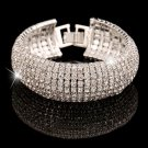 Fashion Charm Women Full Crystal Rhinestone Cuff Bracelet Bangle Bling Wristband Women Wedding Brida