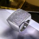 Fashion Geometric design Square shape Big jewelry Zircon stones High Quality Women Trendy Style Wedd