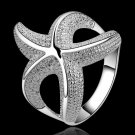 Free Shipping!!Wholesale silver plated Ring,Fashion Jewelry New Design Finger Ring For Lady SMTR538
