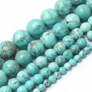 Natrual Stone Beads Turquoise Stone Beads For Jewelry Making Bracelet Necklace 4/6/8/10/12mm 15inche