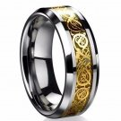 Fine jewelry stainless steel Dragon Ring Mens Jewelry Wedding Band male ring for lovers Valentine pr