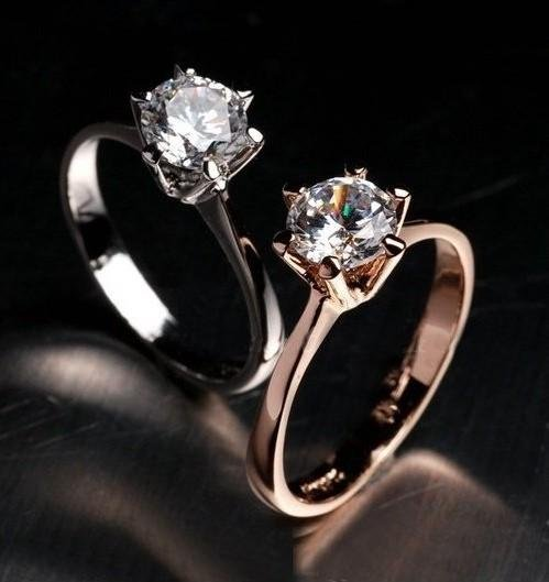 2017 New Sale Brand TracyKwok Genuine austrian crystal   gold Color Rings for Women   #RG90786