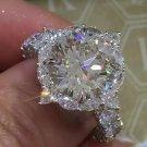 Newest Sparkling luxury Flower ring 3ct AAAAA CZ Zircon 925 Sterling silver jewelry Engagement Weddi