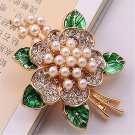 New popular gorgeous women jewelry wholesale girls birthday party set auger type of pearl brooch bro