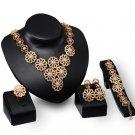 Jewelry Sets Dubai Gold Color Nigerian Wedding African Beads Crystal Bridal Rhinestone Jewellery Set