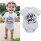 2017 newest Todders Infant Baby Girl Boy Jumpsuit Short Sleeve Romper Cute Baby Floral Print Playsui