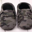 Infant Toddler camo Leopard baby shoes Soft PU Leather Tassel Moccasins soft sole fashion prewalker