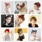 2017 kawaii flower rabbit ears baby girls kids children bow turban headband hair head band haar acce