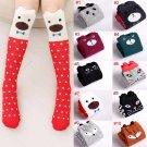 New Design Girl Boy Cartoon Cotton Knee High Middle Tube Cute Pattern Socks For Children M09
