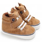 1 Pair Autumn Baby Shoes Kid Boy Girl Fox Head Lace Cotton Cloth First Walker Anti-slip Soft Sole To