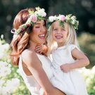 Mom and Me Flower Headband 2017 Summer Style Newborn Headband Flower Crown Mother Kids Matching Garl