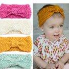 TWDVS Kids knot Crochet Turban Headband Newborn Cotton Wrap Hair elastic Band Headwear Ring Hair Acc