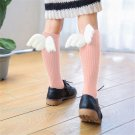 Toddler Socks Baby Cartoon Knee High Socks With WING Children Black White Sock Baby Girl Leg Warmers