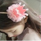 2017 Fashion Girls Kids Headband Lovely Lace Princess Imperial Crown Hairband For Bling Head Dress T