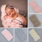 Newborn Photo Props Faux Fur Blanket Baby Photography Backdrops Background Fleece Blanket Swaddle Wr