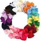 20 Pcs/lot Baby Infant Girls Costume Hair Bows Clips Xmas Christmas Baby Accessories Y56