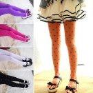 Candy Color Polka Dot Love Heart Girls Kids Ballet Dance Tights Pantyhose