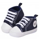 Newborn Kids Toddlers Canvas Cotton Crib Shoes Lace Up Casual Shoes 11-13 Prewalker First Walkers