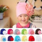 Baby Flower Hat Newborn Girl Cotton Beanie Cap Peony Flower Infant Spring Hat Children Accessories R